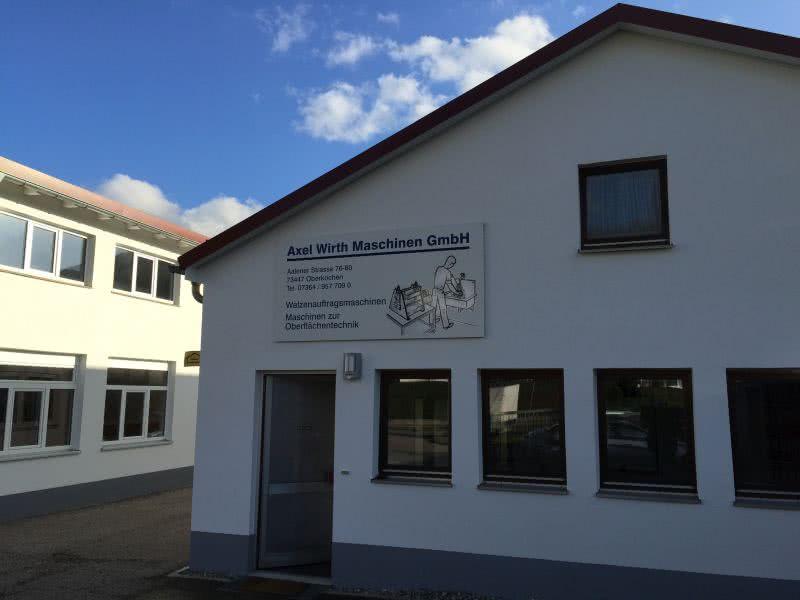 Firmensitz des Herstellers von Leimauftragsmaschinen
